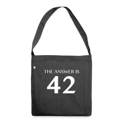 The Answer is 42 White - Shoulder Bag made from recycled material