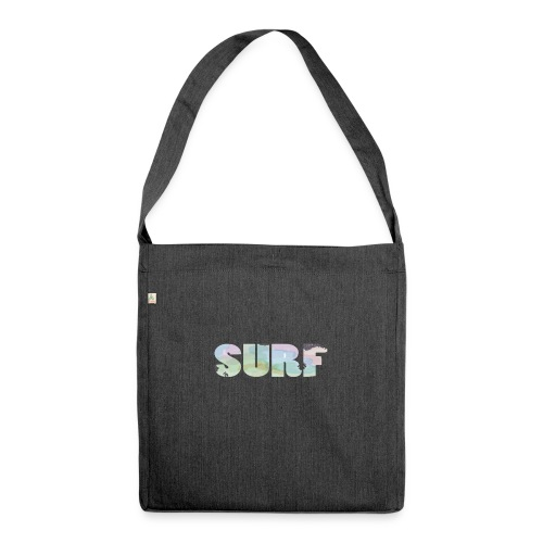 Surf summer beach T-shirt - Shoulder Bag made from recycled material
