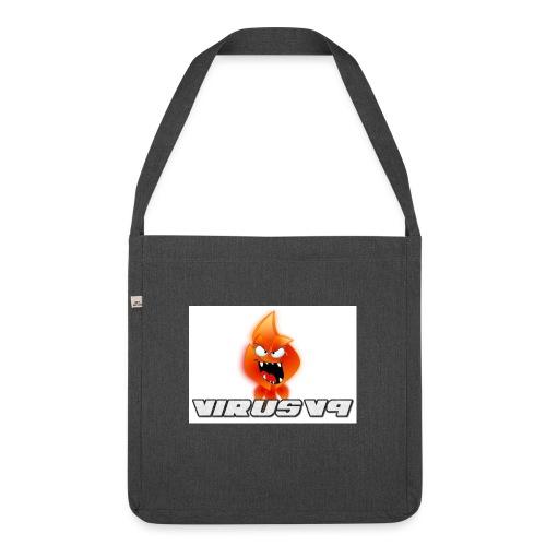 Virusv9 Weiss - Schultertasche aus Recycling-Material