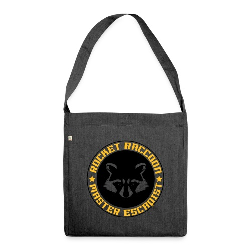 Rocket raccoon logo full - Sac bandoulière 100 % recyclé
