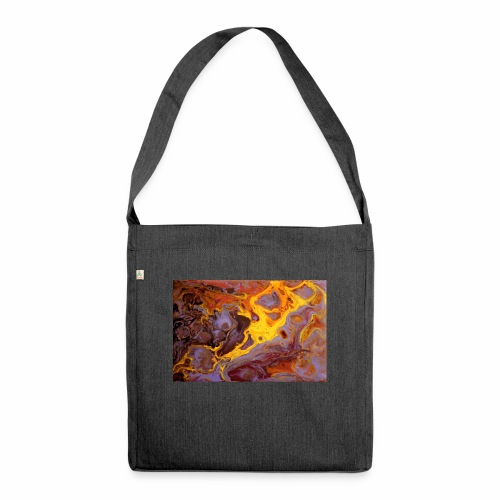 Flames - Schultertasche aus Recycling-Material