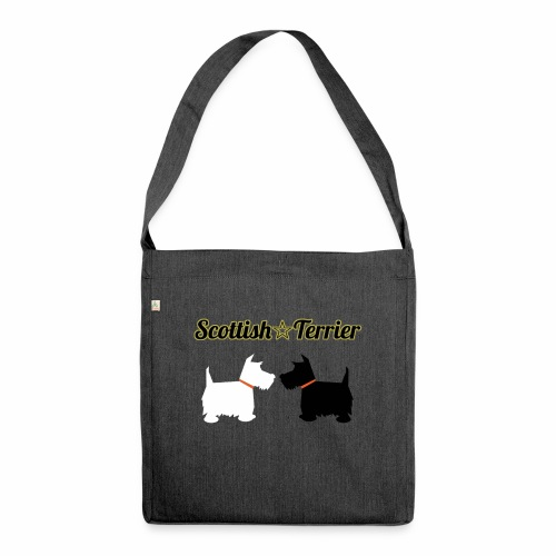 scottie bag design - Shoulder Bag made from recycled material