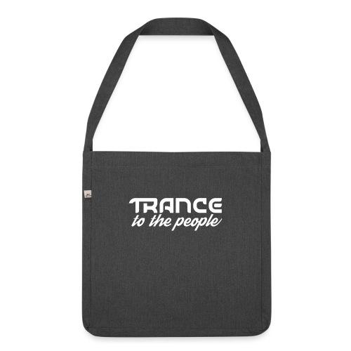 Trance to the People Hvidt Logo - Skuldertaske af recycling-material