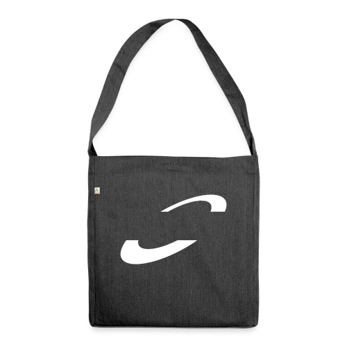 Planet Cycling Icon White - Shoulder Bag made from recycled material