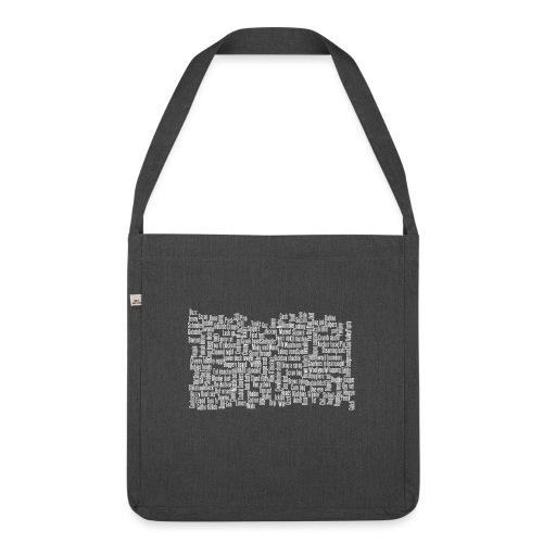 Jackspeak (white) - Shoulder Bag made from recycled material