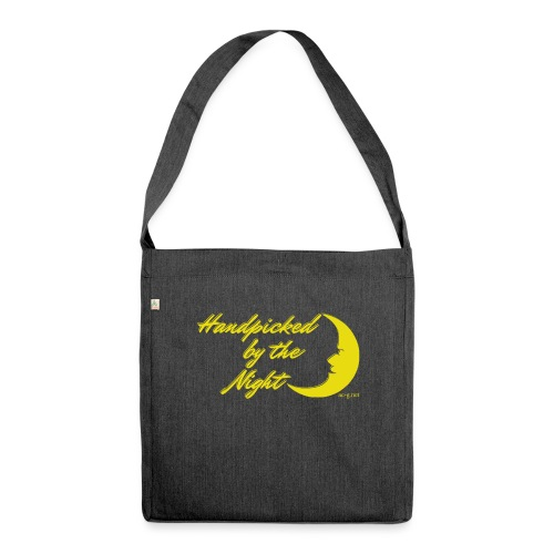 Handpicked design By The Night - Logo Yellow - Shoulder Bag made from recycled material