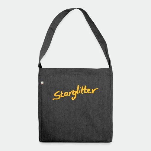 Starglitter - Lettering - Shoulder Bag made from recycled material