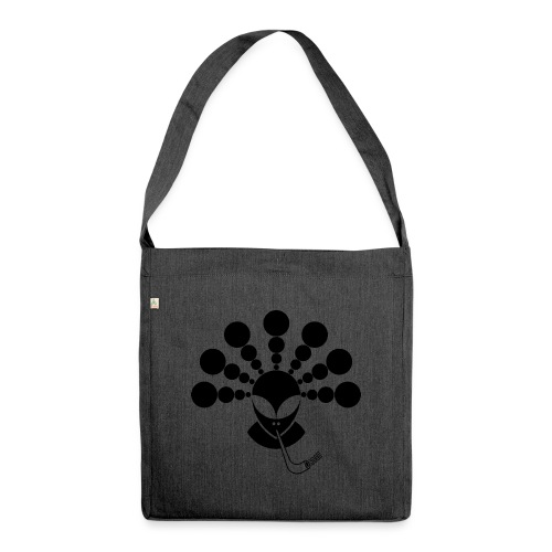The Smoking Alien Black - Shoulder Bag made from recycled material