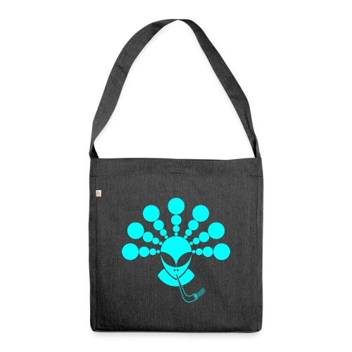 The Smoking Alien Light Blue - Shoulder Bag made from recycled material