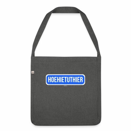 Hoehietuthier - Schoudertas van gerecycled materiaal