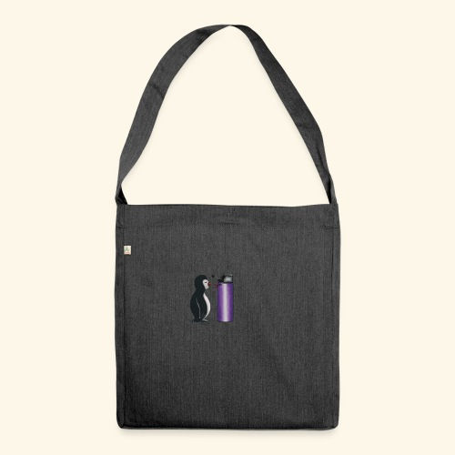 pinguininlove - Schultertasche aus Recycling-Material