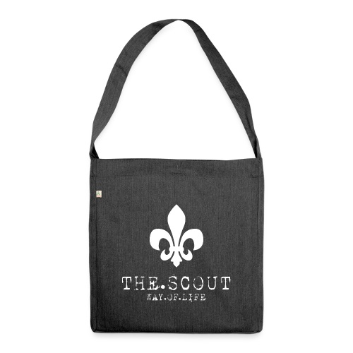 THE.SCOUT.WAY.OF.LIFE Typewriter mit Lilie Weiß - Schultertasche aus Recycling-Material