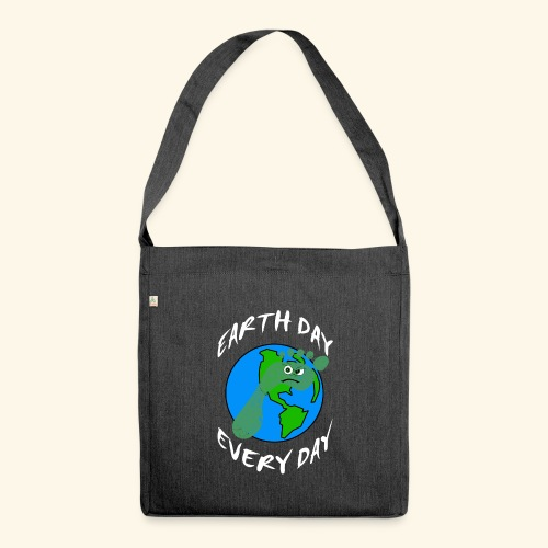 Earth Day Every Day - Schultertasche aus Recycling-Material