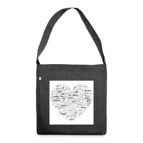 Heart Cluster - Shoulder Bag made from recycled material