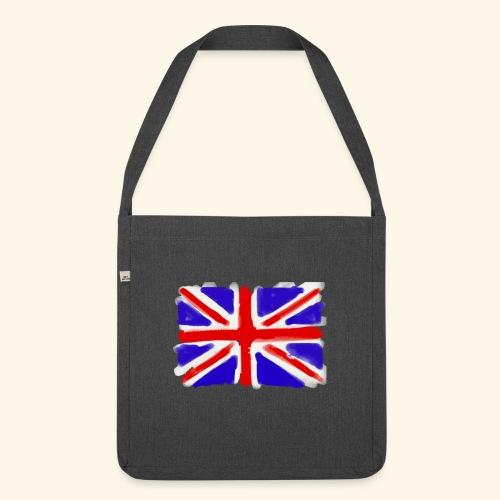 British flag in watercolours - Axelväska av återvinningsmaterial