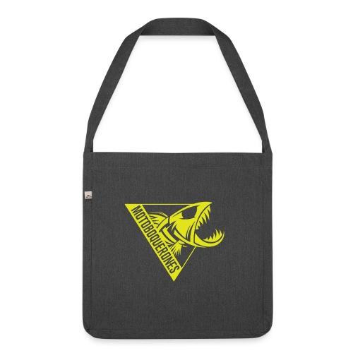 Logo Motoboquerones amarillo - Bandolera de material reciclado