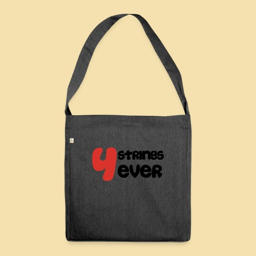 4 Strings 4 ever - Schultertasche aus Recycling-Material