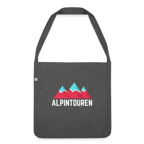 Alpintouren Logo - Schultertasche aus Recycling-Material