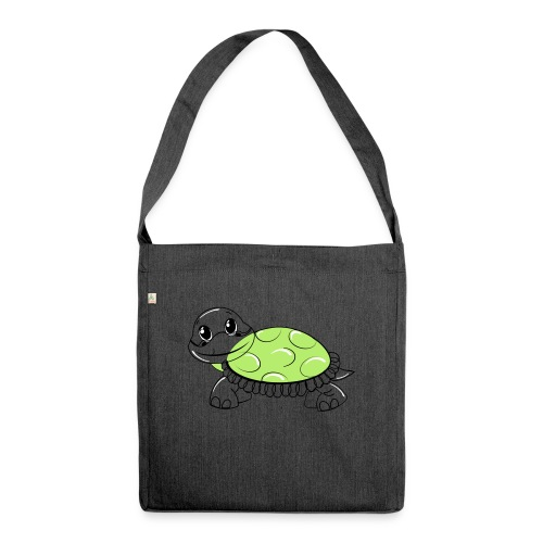Schildkröte - Schultertasche aus Recycling-Material