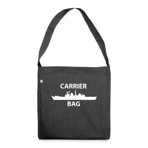 carrier bag white - Shoulder Bag made from recycled material