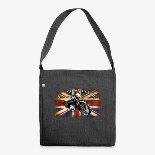 Vintage famous Brittish BSA motorcycle icon - Shoulder Bag made from recycled material