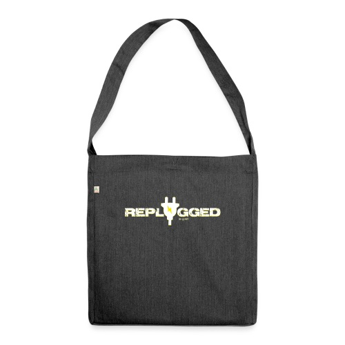 Replugged - Clip Art White - Shoulder Bag made from recycled material