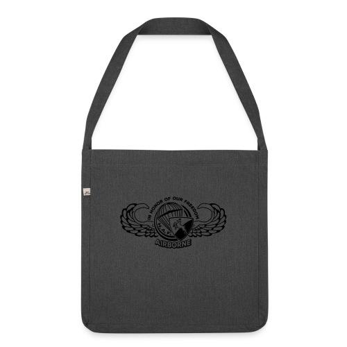 HAF tshirt back2015 - Shoulder Bag made from recycled material