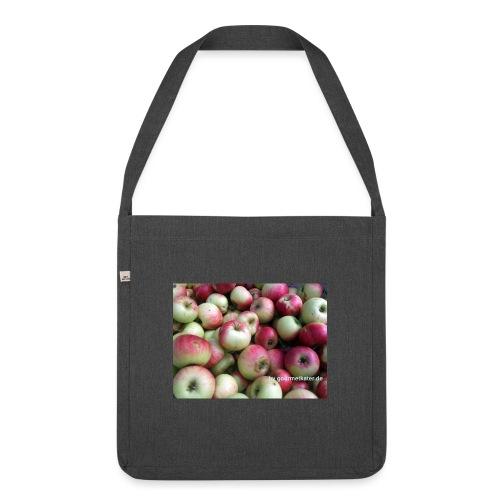 Äpfel - Schultertasche aus Recycling-Material