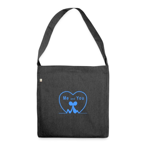 Io e te... LIGHT BLUE - Borsa in materiale riciclato