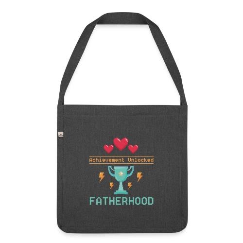 Achievement Unlocked Fatherhood Papa Spruch - Schultertasche aus Recycling-Material