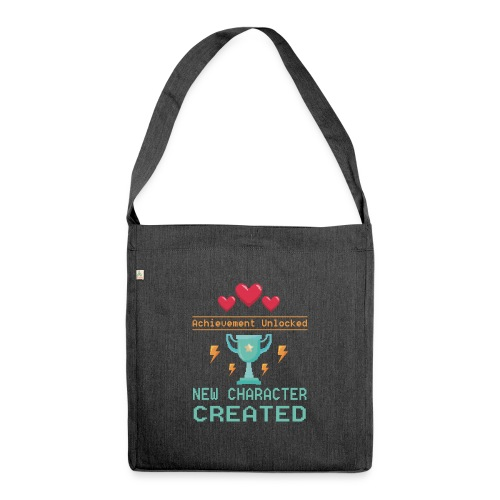 Achievement Unlocked New Character Created - Schultertasche aus Recycling-Material