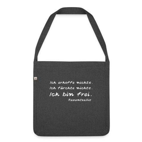 Kazantzakis - Ich bin frei! - Schultertasche aus Recycling-Material