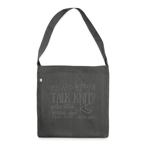 Talk Knit ?, gray - Shoulder Bag made from recycled material