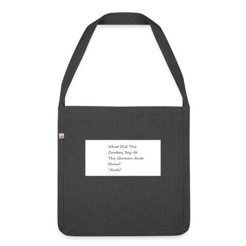 Car Joke - Shoulder Bag made from recycled material