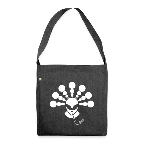 The Smoking Alien White - Shoulder Bag made from recycled material