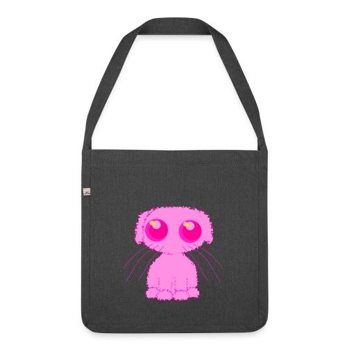 lurvig neonrosa kawaii anime doodle hund - Shoulder Bag made from recycled material