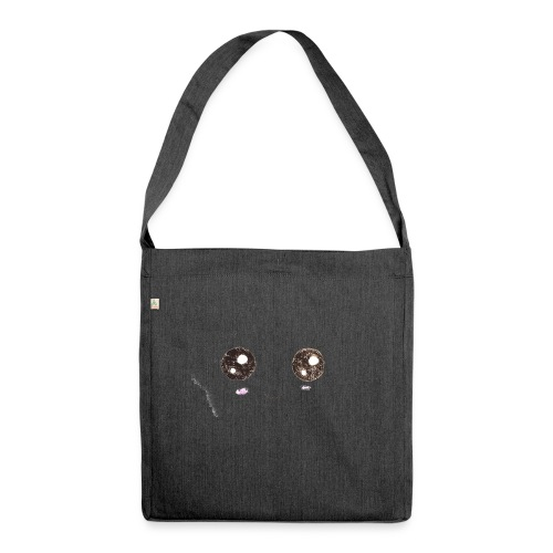 Kids for Kids: Smiling Face - Schultertasche aus Recycling-Material