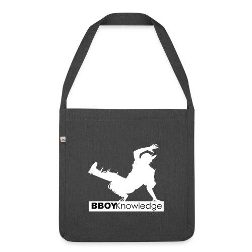 bboy knowledge Blanc & Noir - Sac bandoulière 100 % recyclé