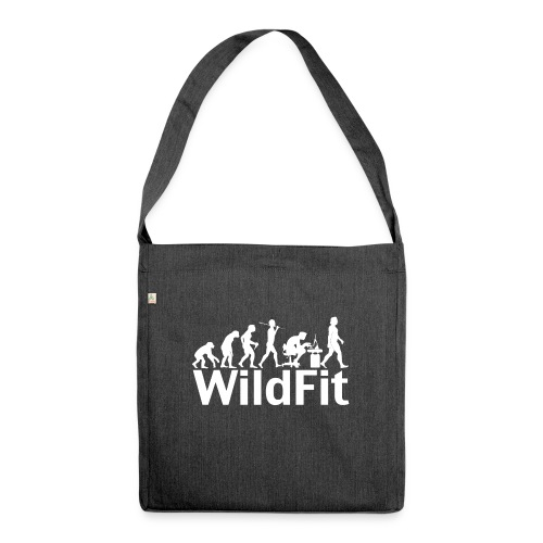WildFit Logo Evolution Weiß - Schultertasche aus Recycling-Material