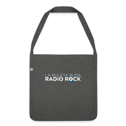 La Ruleta Rusa Radio Rock, Landscape White - Bandolera de material reciclado