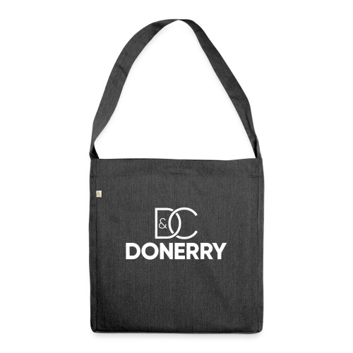 DONERRY New White Logo on Dark - Shoulder Bag made from recycled material