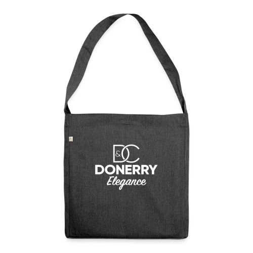 Donerry Elegance NEW White on Dark - Shoulder Bag made from recycled material