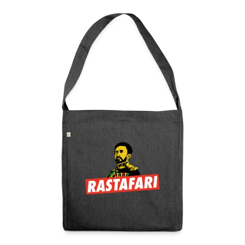 Rastafari - Haile Selassie - HIM - Jah Rastafara - Schultertasche aus Recycling-Material
