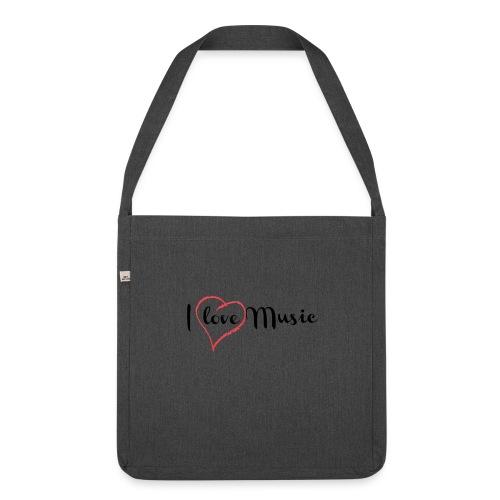 I Love Music - Borsa in materiale riciclato