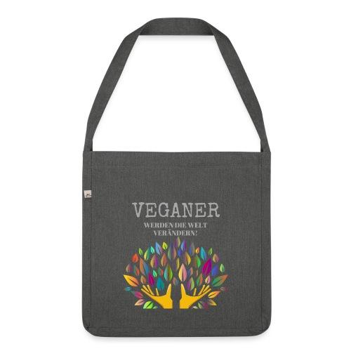 Veganer - Schultertasche aus Recycling-Material