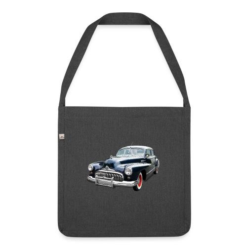 Classic Car. Buick zwart. - Schoudertas van gerecycled materiaal