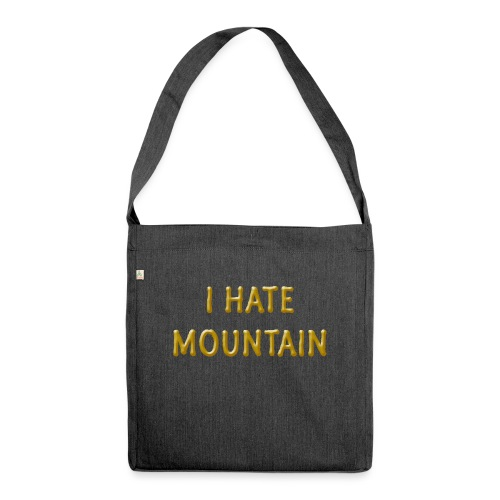 hate mountain - Schultertasche aus Recycling-Material