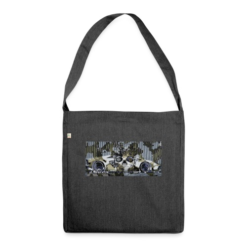 calavera style - Shoulder Bag made from recycled material