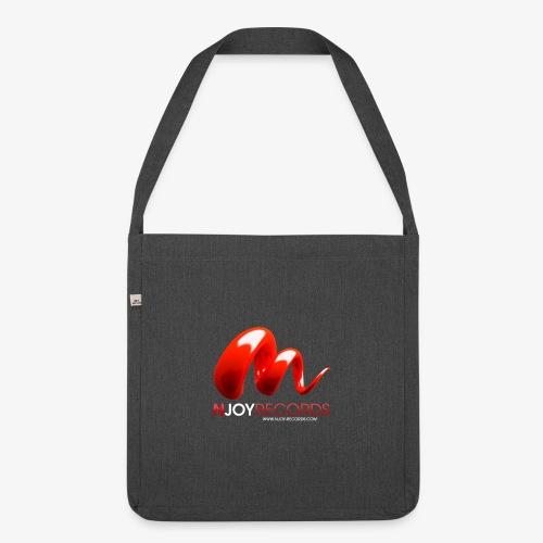 Logo Njoy Records Blanc - Sac bandoulière 100 % recyclé