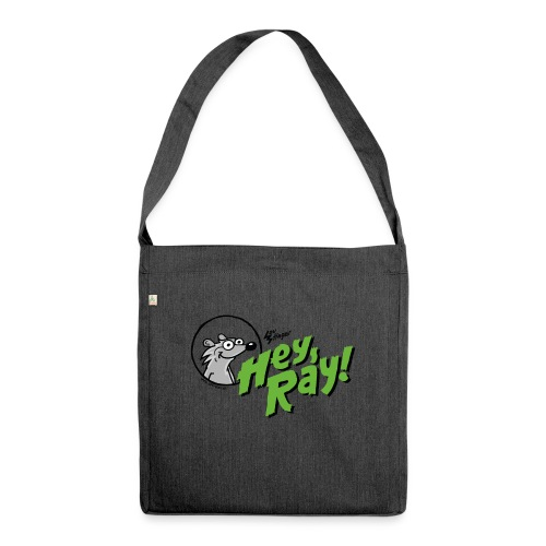Hey Ray Logo green - Schultertasche aus Recycling-Material